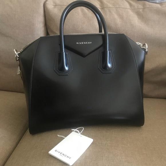 7051ce230 Givenchy Bags | Antigona Medium Bag 100 Calf Leather | Poshmark